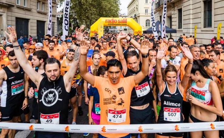 La marea naranja de la carrera 'Ponle freno' toma Vitoria