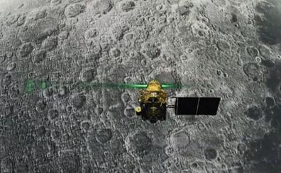 El módulo indio se mantiene intacto tras llegar sin control a la Luna