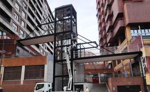 Santurtzi estrena su noveno ascensor urbano