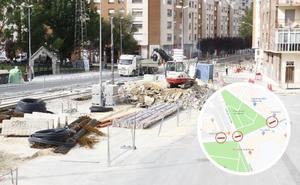 Las obras del tranvía cortarán el tráfico en varias calles de San Cristóbal y Adurza durante 5 semanas