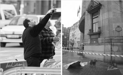 Cornisas asesinas en la Gran Vía de Bilbao