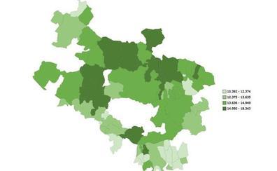 Arrazua-Ubarrundia, la localidad con mayor renta familiar en Álava