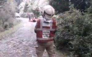 Evacuado en helicóptero un ciclista tras caer a una pista forestal en Zeberio