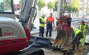 Fuga de gas en las obras de ampliación del tranvía de Vitoria