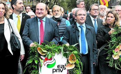 El entusiasmo del nacionalismo vasco se desinfla en la Diada más «tensa»