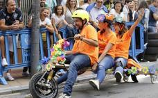 60 corredores recuperan el vértigo y la tradición de las goitiberas en Barakaldo