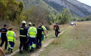 Trasladado en helicóptero un montañero herido en una caída en Valderejo