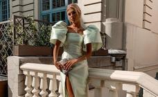 Mangas XL y pendientes de 26.000 euros: la valenciana que encontró en Euskadi su look de invitada perfecto