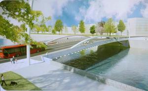 Arranca el montaje del puente entre Zorrozaurre y San Ignacio