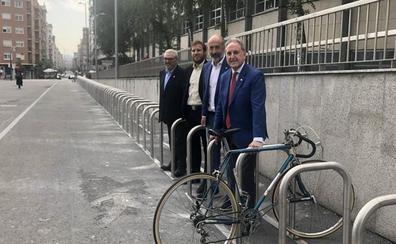 San Mamés estrena aparcamiento para 200 bicicletas, el más grande de Bilbao