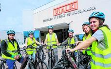A trabajar a Júndiz en bici eléctrica
