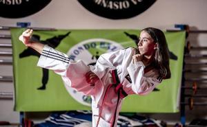 Izaro Marchán, en el Europeo de taekwondo con tan solo 12 años
