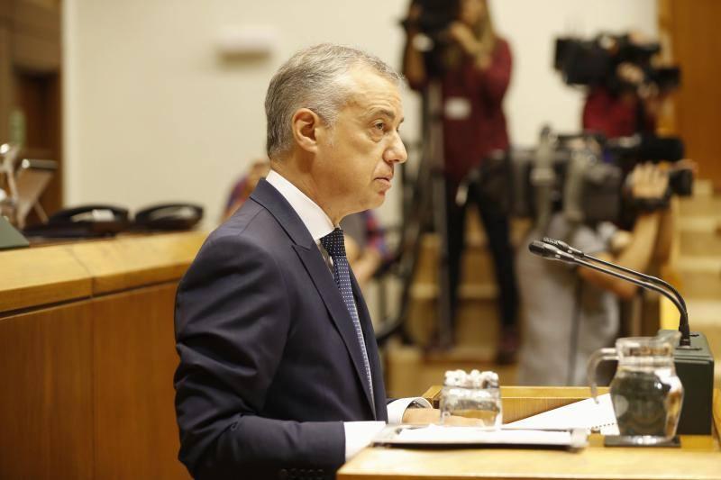 Urkullu admite que está en «alerta máxima» por la «gran incertidumbre» global