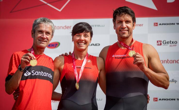 Martín Fiz gana el Santander Getxo Triatloia junto a Eider Fuentes y Eneko van Horenbeke