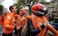 Holanda se queda con la primera contrarreloj mixta del Mundial