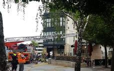 Alarma por un incendio en la cocina de un bar de Getxo