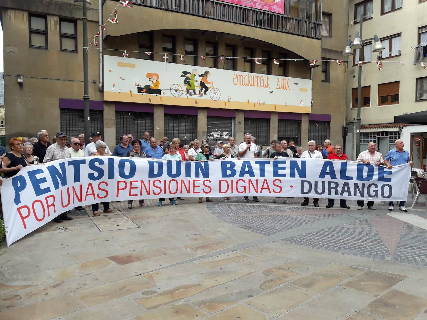 Pensionistas de la comarca se manifestarán en Durango el lunes