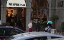 Clooney atasca Madrid durante el rodaje de un anuncio