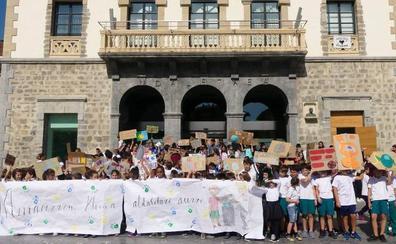 Estudiantes de Amurrio piden medidas contra el cambio climático