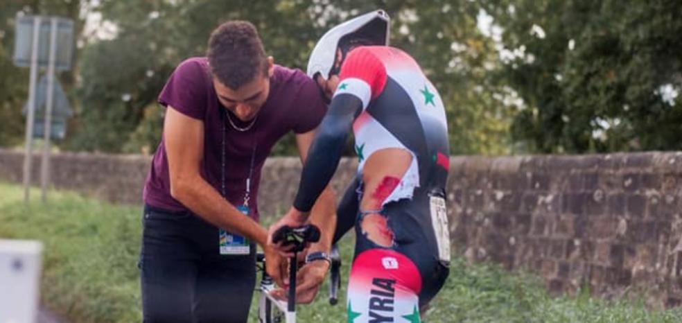 La nueva vida de Nazir Jaser, el ciclista que huyó de la guerra de Siria