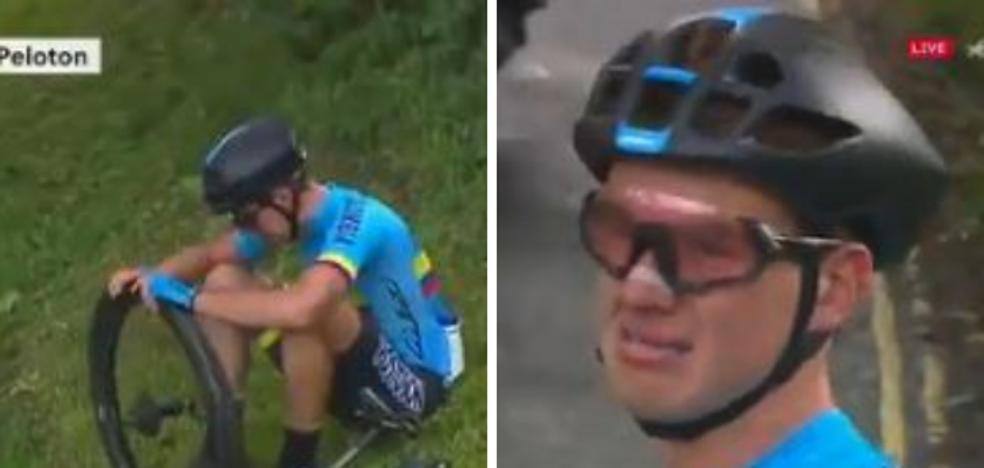 Las lágrimas de impotencia de un ciclista al que nadie quiso ayudar