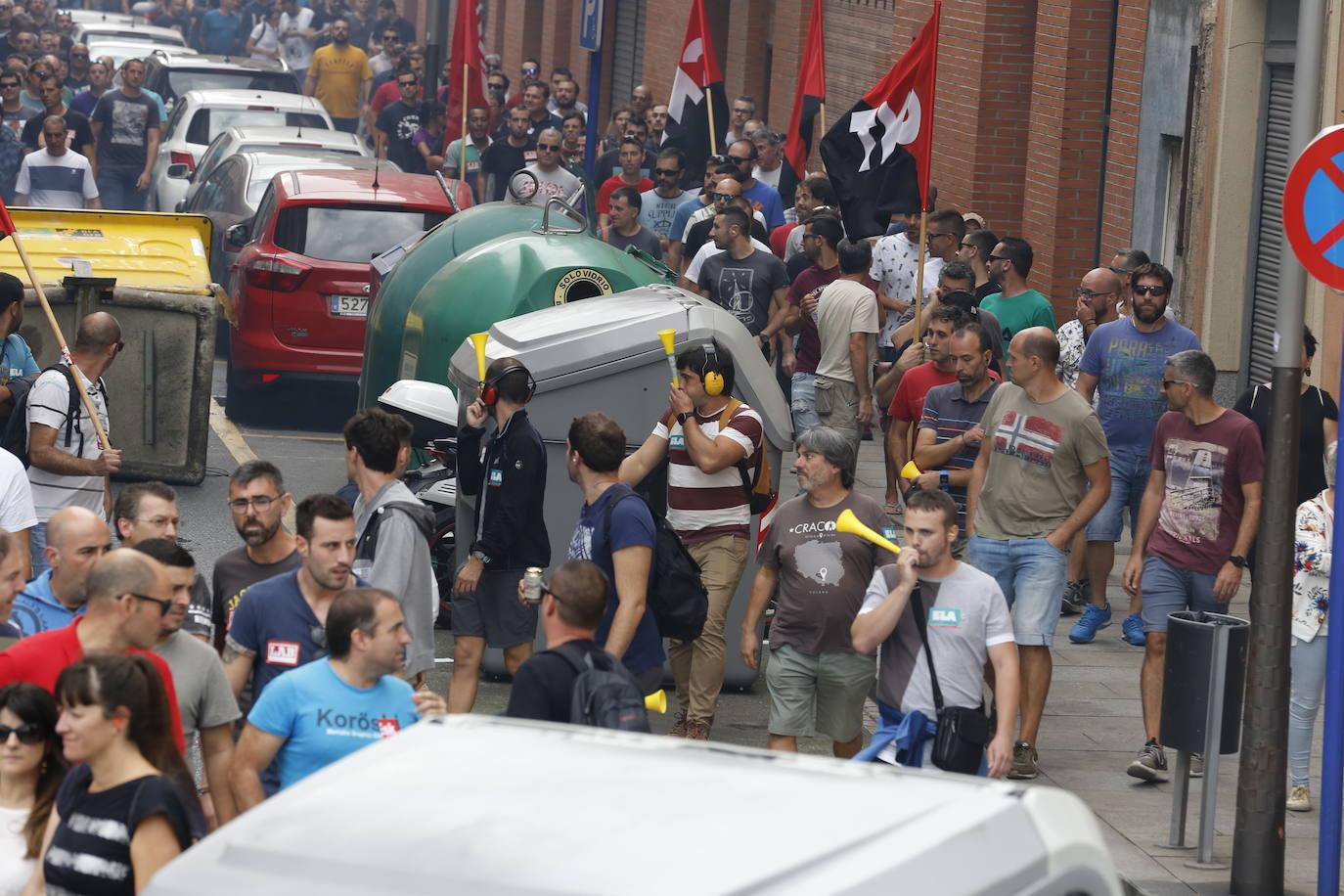 Incidentes y manifestantes identificados en la segunda jornada de huelga del metal