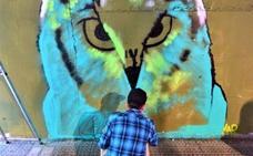 Los graffitis transforman el sábado distintos puntos de Galdakao
