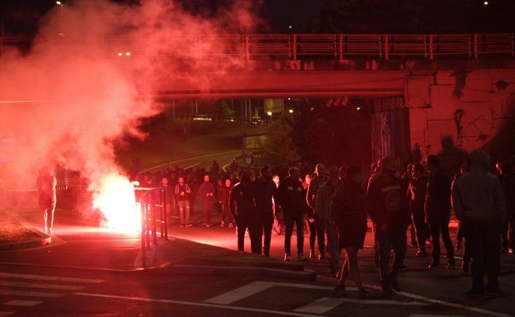 Protestas en Barakaldo por la huelga del metal