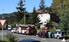 Se desploma el tejado de un caserío en Etxebarri