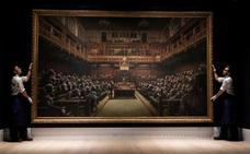 Banksy hace caja con los primates de Westminster