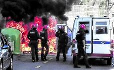 Nuevos incidentes en la huelga del metal que hoy termina con una manifestación en Bilbao