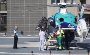 Atropellan a un ciclista en Llodio y le trasladan en helicóptero al hospital de Cruces