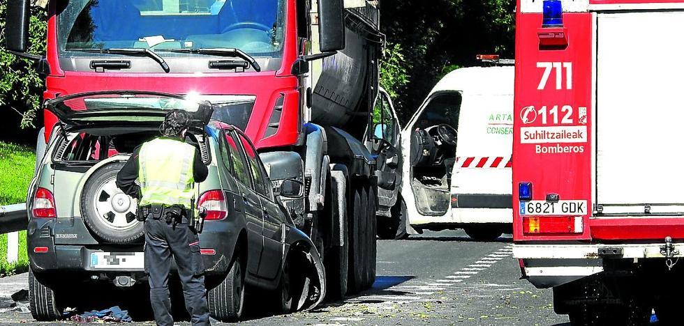 Trabakua, un 'punto negro' en Bizkaia: tres accidentes al mes