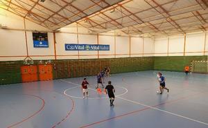 Llodio arregla de forma provisional la cancha de La Granja para jugar partidos el fin de semana