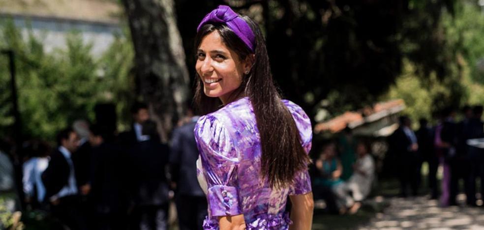 La invitada bilbaína que deslumbró con su romántico vestido en la boda de su cuñado