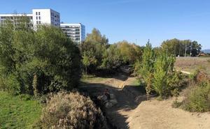 URA habilita en Vitoria un doble cauce en el río Santo Tomás a su paso por Arkaiate