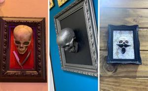 Terror en Bilbao: aparecen esqueletos y calaveras por todas partes