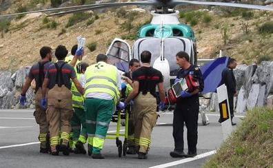 Fallece el motorista de 51 años accidentado en Larrabetzu