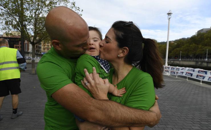 Marcha solidaria en Bilbao de la Fundación Síndrome de Down