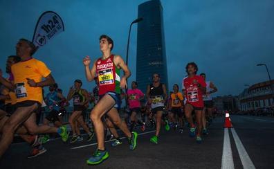 El maratón nocturno cortará las principales calles de Bilbao la tarde y la noche del sábado