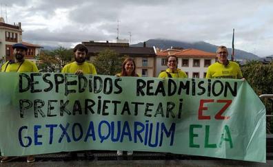 El Aquarium de Getxo, a medio gas por la huelga de los trabajadores