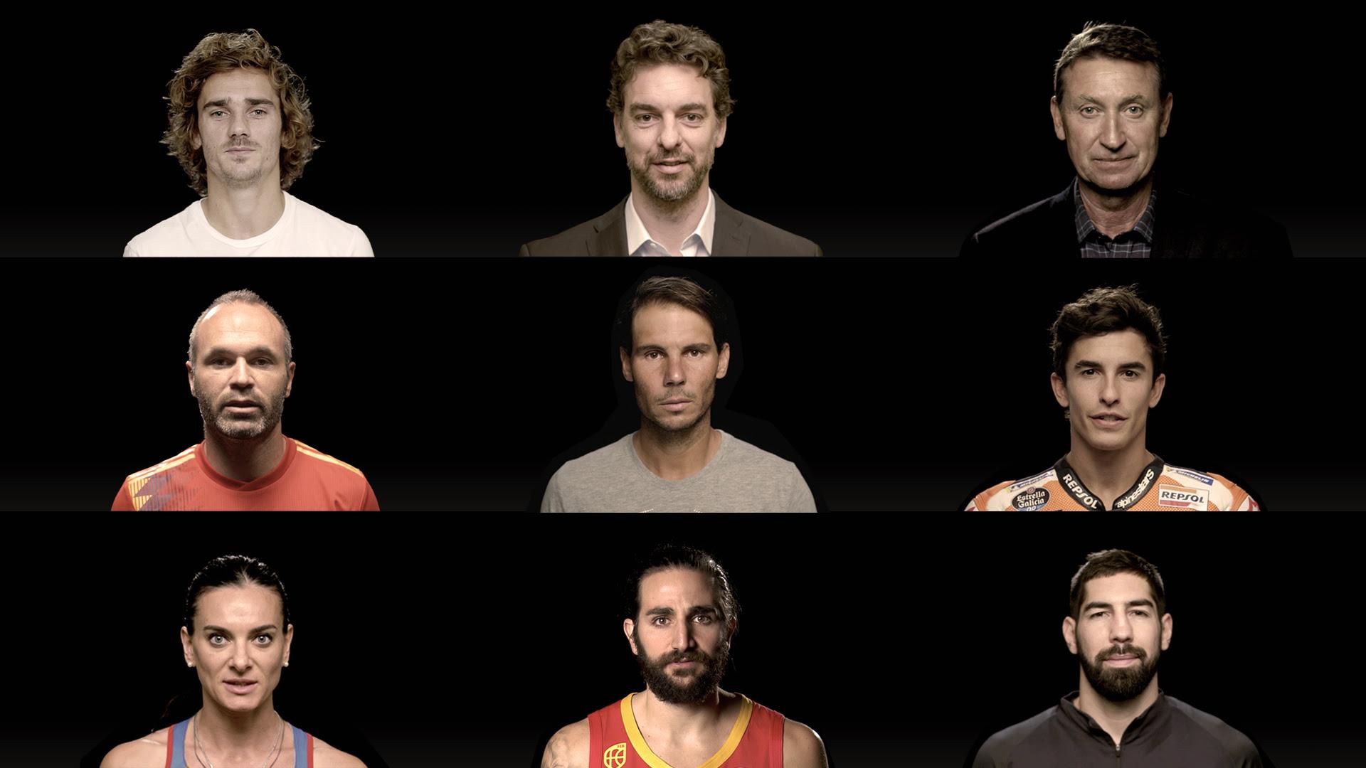 Estrellas del deporte promocionan la Copa Davis