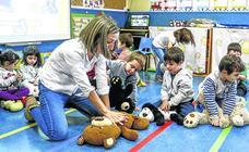 El colegio San Prudencio forma en primeros auxilios a todos sus alumnos desde los tres años