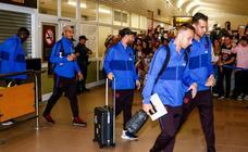 Fotos de la llegada del Barcelona a Foronda