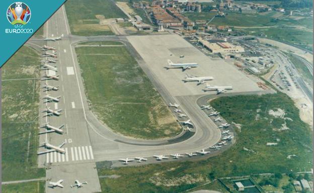 El aeropuerto de Loiu se apoyará en Foronda para atender a miles de aficionados durante la Eurocopa