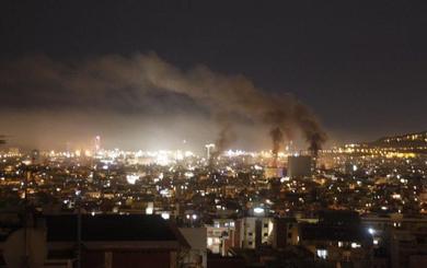 Quinta noche de terror y fuego en la Ciudad Condal