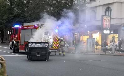 En libertad los seis detenidos en la protesta por el 'procés' en Bilbao