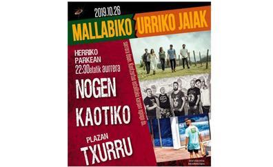 Programa de fiestas de Mallabia 2019: Mallabiko Urriko Jaiak