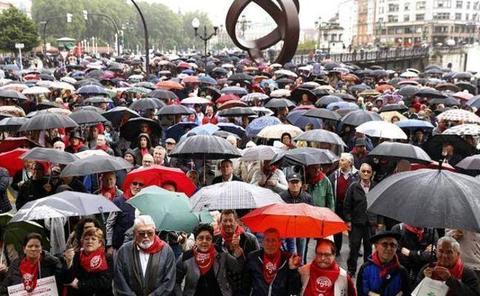 Los pensionistas volverán a manifestarse en las tres capitales vascas el 16 de noviembre