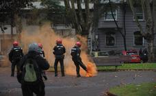 Incidentes en Bilbao por una protesta contra el mitin de Vox